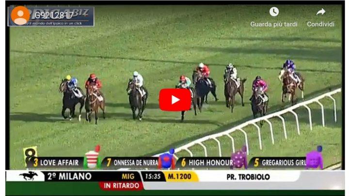 Milano: vince Onnessa de Nurra per la Sardegna che galoppa.